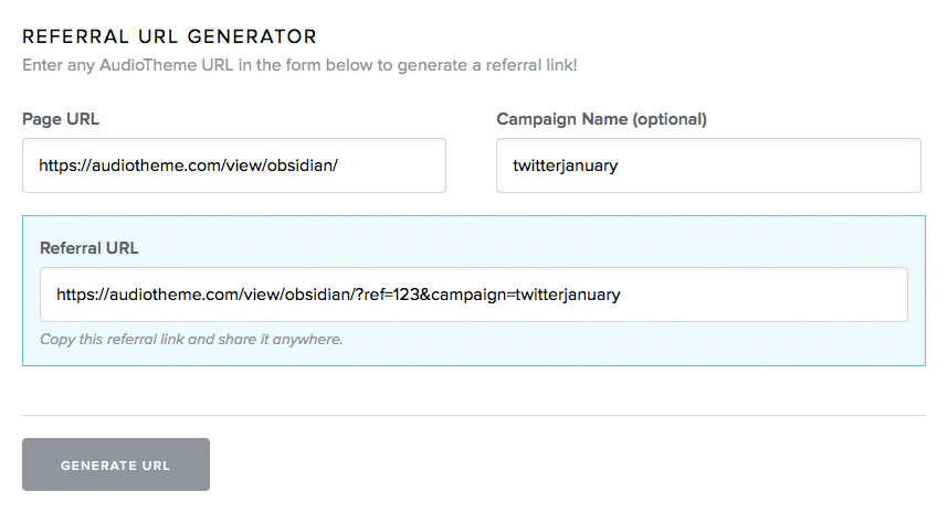 Affiliate URL Generator
