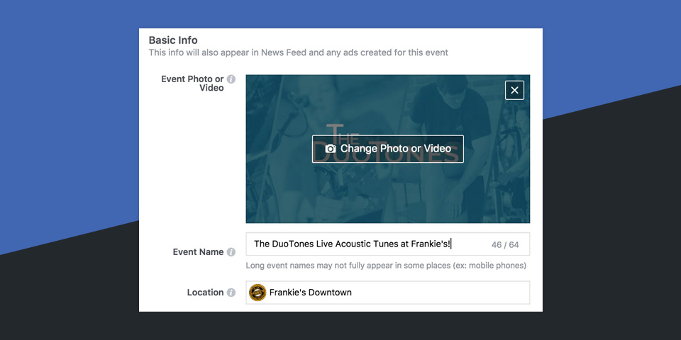 Using Facebook Events to Promote Your Band's Shows