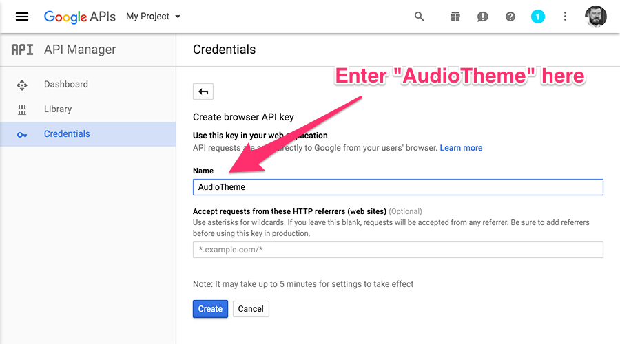 Create a Google Maps API Key — AudioTheme