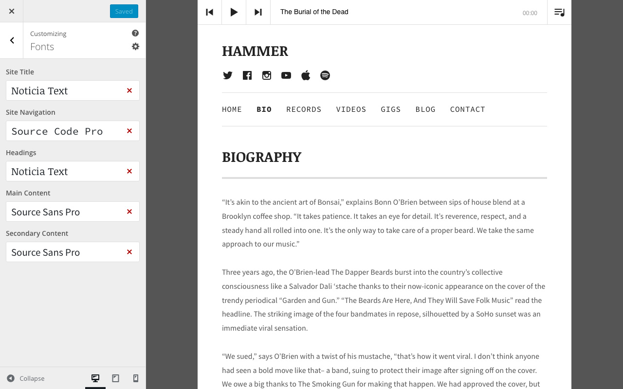 hammer u2014 wordpress music themes by audiotheme