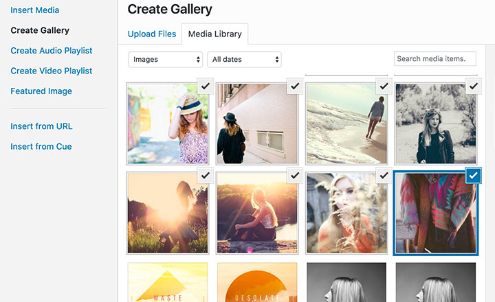 native-wordpress-create-gallery