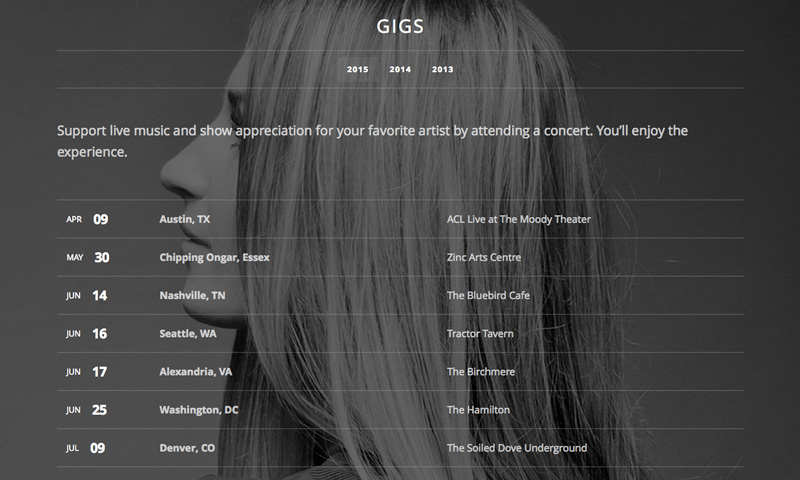 Promote your gigs on your website and social media pages.