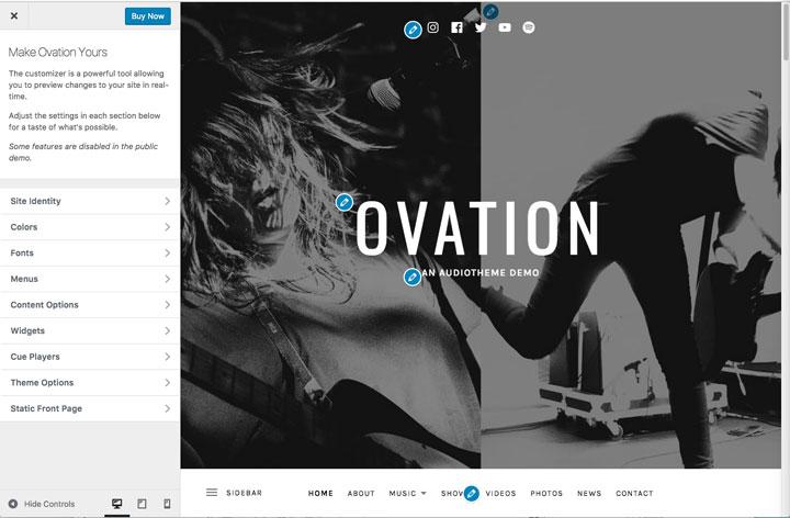 Ovation Social Media Customizer