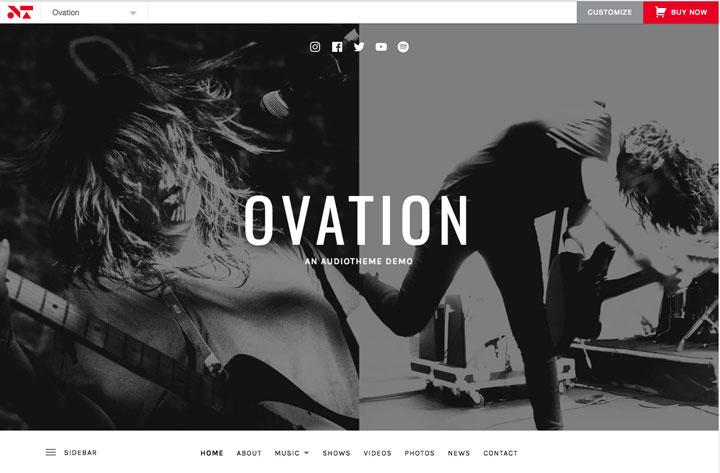 Ovation Social Media Menu