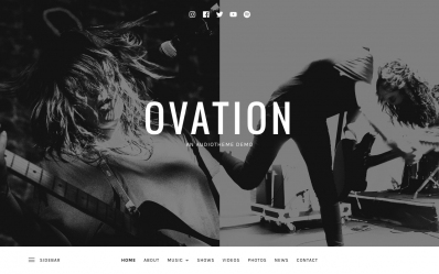 wordpress band theme