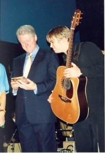 Pat McGee with President Bill Clinton