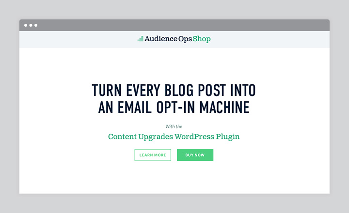Content Upgrades WordPress Plugin by Audience Ops