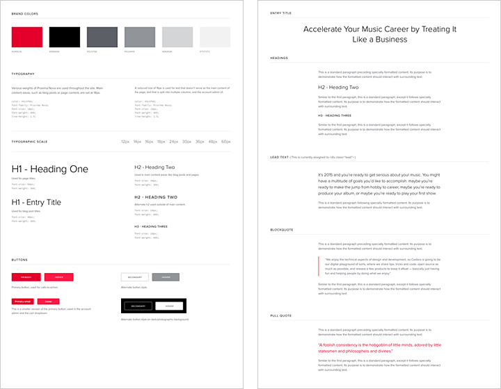 Style guide (web view)