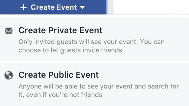Using Facebook Events to Promote Your Band's Shows - Public Event