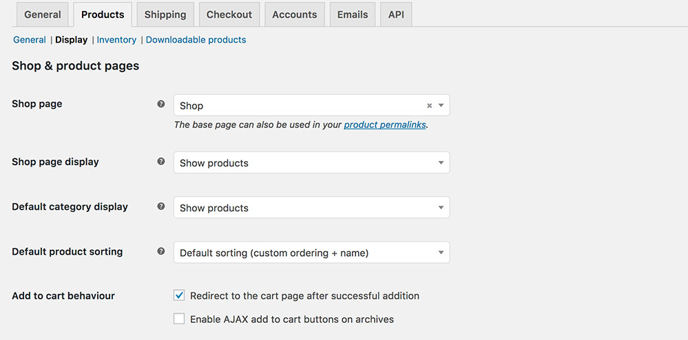 WooCommerce add to cart redirect options
