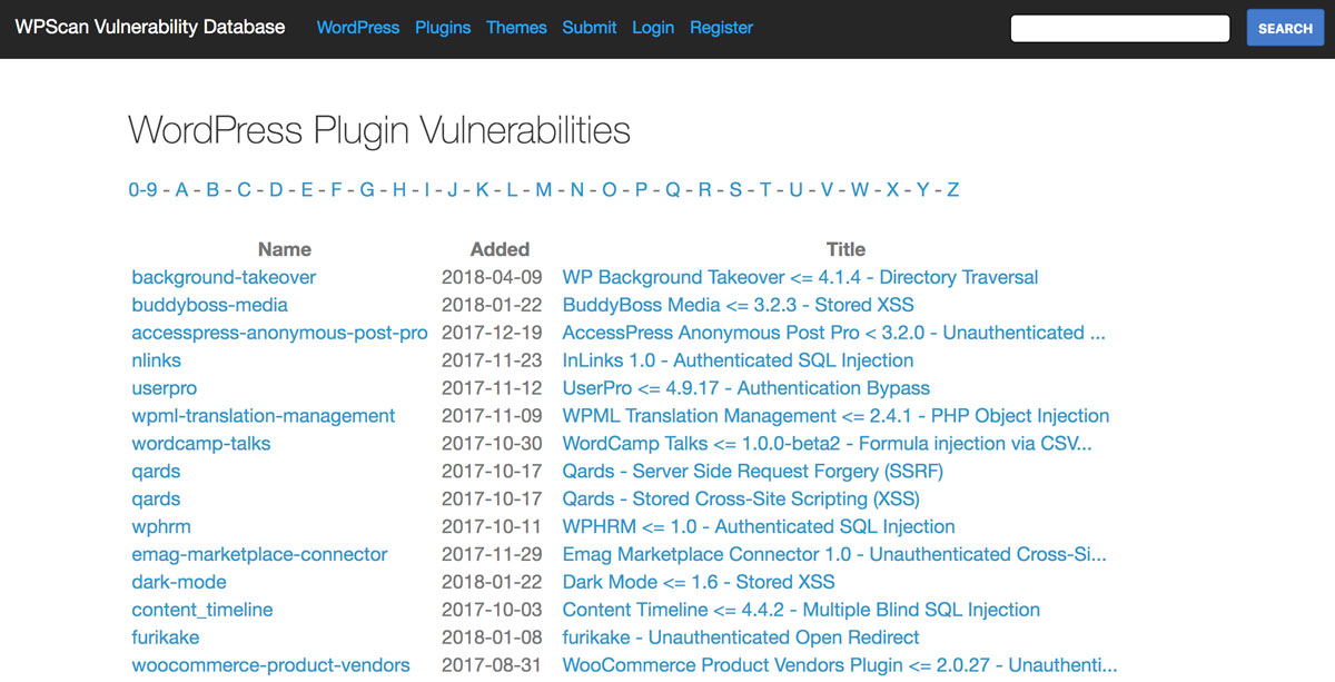 wordpress-security-vulnerability-database